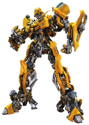 TRANSFORMERS - BUMBLEBEE CUT OUT ART canvas print - self adhesive poster - photo print